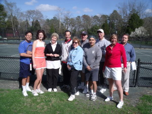 Participants in the Annual VTLA Tennis Tournament held in Colonial Williamsburg and sponsored by Abrams Landau, Ltd.