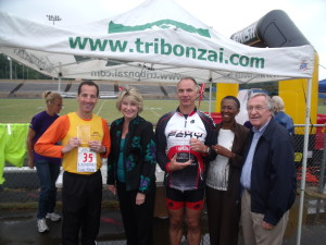 Reston Triathlon Age Group Award Winner Doug Landau