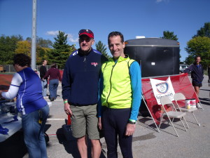 Triathlon Trial Lawyer Doug Landau took only 25 seconds per transition at the Hagerstown Duathlon, however, that is longer than many television commercials !