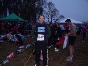 After a wet run, DC runners like Herndon lawyer Doug Landau get changed into warm, dry gear