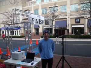 Triathlon Trial Lawyer Doug Landau was runner up in his age group at the Reston Town Center New Year's Day 5k road running race