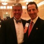 Ed Allen and Herndon injury lawyer Doug Landau enjoy the warmth of The Homestead