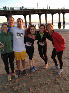 """All 6 Landaus participated in the Manhattan Beach California xMas 5km, including the """"barefoot barrister"""""""