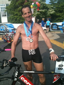 Not likely to medal in 3 races in 36 hours again, Herndon Reston area triathlete and trial lawyer Doug Landau will instead concentrate on major sprint races in 2012