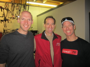 Kevin Kunkel of the Reston Area Triathletes was all smiles at the RATS annual Kona Ironman Triathlon party