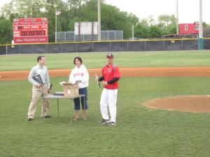 Herndon Baseball Sponsor Appreciation Night at Herndon High School - Doug Landau of the Herndon law firm ABRAMS LANDAU supports Hornets Sports