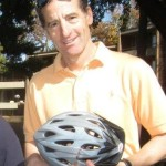 Attorney Doug Landau with bike helmet