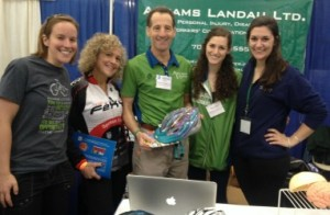 Katie Lupo, Cindy Revesman, Doug Landau, William & Mary Students Nicole and Amanda