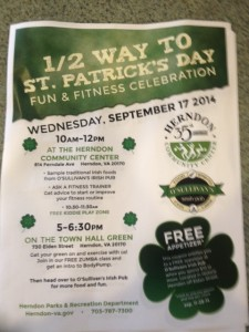 Join in the fun on September 17 -- half way to St. Patrick's Day!
