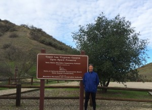 "Always eager to explore cases, races and new places ""on foot,"" Herndon lawyer Doug Landau at the Upper Las Virgenes Canyon Open Space Preserve, California"
