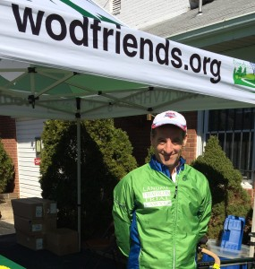 Friends of the W&OD Trail hosted a safe, fun event Sunday at the Falls Church American Legion Hall. Herndon W&OD Trail user Doug Landau won the 50-59 age group and then ran to the East Falls Church Metro Station to take the Silver Line to the Reston Wiehle Station near the Law Shop
