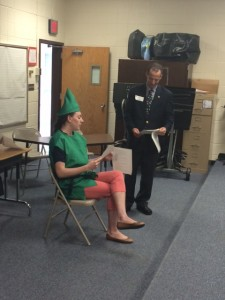 None other than Robin Hood stood trial for assault and theft at Crestview Elementary School in Herndon, VA.