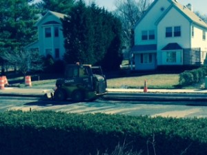 Road Construction in front of Abrams Landau office in Herndon VA