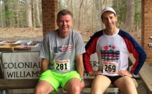 """""""Small World Department:"""" USAT&F-NJ's Terry Mullane won his age group & saw Doug Landau's shirt from the Cross Country National Championships, which he helped direct !"""