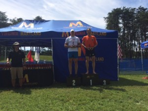 Winning the 55-59 age group and holding his chili pepper trophy, Herndon injury lawyer Doug Landau's time would have won many other age groups, and made the podium in every age group at the VTS Culpeper Sprint Triathlon