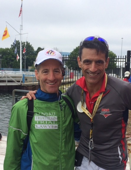USAT CEO Rob Urbach rolled up his sleeves and helped pull athletes out of the frigid waters of Lake Michigan at the Olympic Distance National Championships