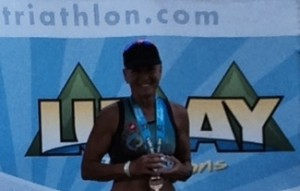 Winning her age group made Gail Waldman a Regional Sprint Triathlon Age Group Champion.