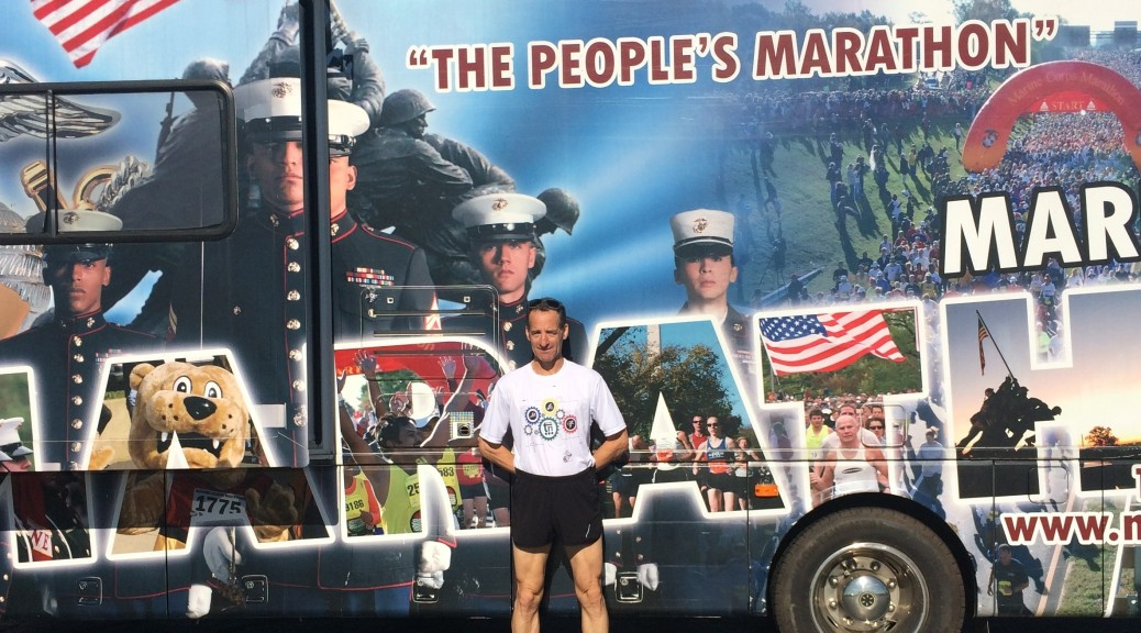 Three time Marine Corps Marathon Triathlon Grandmaster Champ Doug Landau suggests everyone visit the National Marine Corps Museum, just of I-95, in Triangle, Virginia