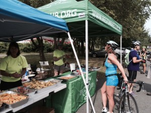 """Friendly volunteers with well-stocked stations made for a """"top shelf"""" experience for Northern Virginia bikers at the Reston Century rides"""