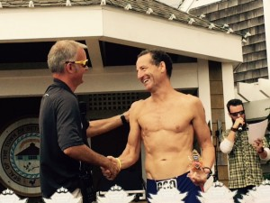 """Racing against athletes half his age, lawyer Landau almost copped first prize in Bethany Beach, Delaware's annual """"First Responders"""" DUathlon"""