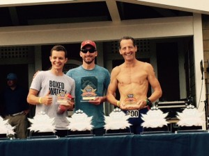 Overall winners of the Bethany Beach DUathlon. The 2015 edition of this popular Delaware shore event came down to the wire with Garrett Gooding of Ocean Cycles winning in an exciting sprint finish