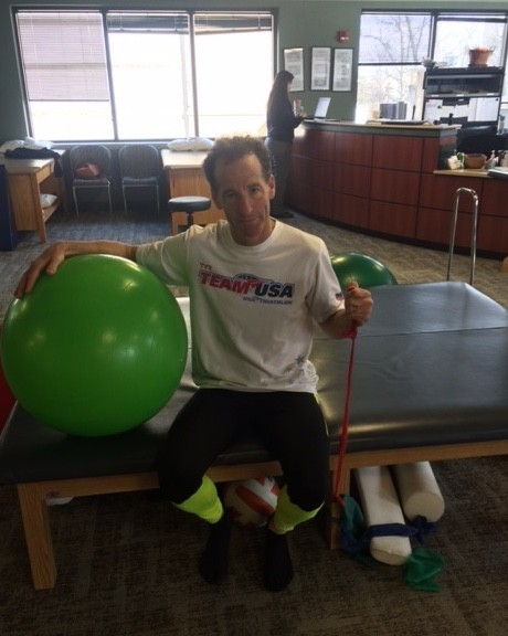 After taking over a month off fror running, Doug Landau is currently undergoing Physical Therapy for chondromalacia. Once he improves his balance and stability, he hopes to return to the highest levels of athletic competition in 2016