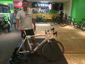 While the Green Lizard bike shop in Herndon no longer uses CompuTrainer indoor training systems for its year-round classes, the CT method of using your own bike to train for wattage is emphasized at this Northern Virginia bike shop's Kickr sessions