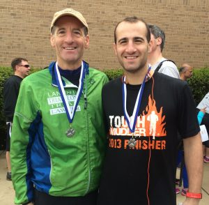 Doug & Zach Landau both finished in the top 10 out of over 300 runners in the Oak Hill 5km., and both won their respective age groups at this Chantilly Highlands Virginia race
