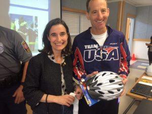Delegate Jennifer Boysko and Doug Landau