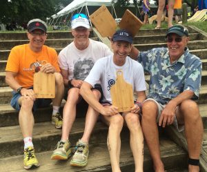 Giant Acorn Sprint race Age Group winners with their VTS/MTS cutting boards
