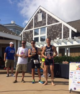 Overall winners of the Bethany Beach, Delaware First Responders DUathlon