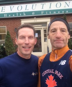 Evolution Health & FItness owner Mark Lander & Doug Landau are shown outside the Vienna Virginia gym, located a stones' throw from the caboose & the W&OD Trail