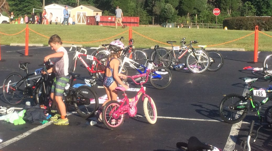 "Children of all ages participated in the Tri It Now ""Splash & Dash"" and ""Kids Tri DU' events at the George Mason University Prince William County Campus and Freedom Fitness Center"