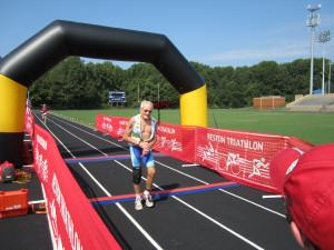 Reston Triathlon finishers come in all shapes, sizes and ages  !