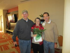 At the VTLA Advanced Workers Compensation Law Retreat, the best VIrginia workers comp lawyers presented Allison Love with roses to mark her retirement.  VTLA and WILG members Andrew Rheindardt and Doug Landau flank the wonderful Ms. Love