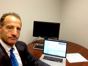 Lawyer Doug Landau about to go into a client's Social Security Disability Hearing in Charlottesville, Virginia