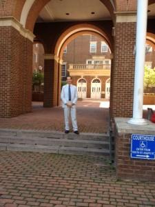 Lawyer Doug Landau at the Alexandria Virginia Circuit Courthouse