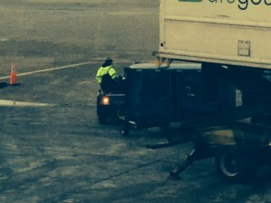 """Often """"rules of the road"""" are not enforced on busy airport operations areas."""