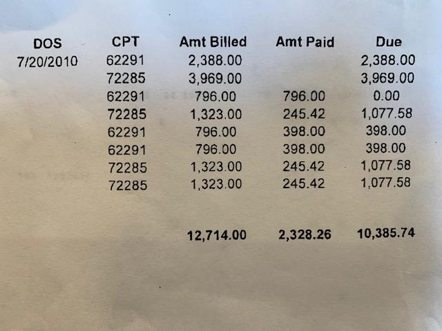insurance bill