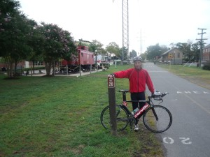Doug Landau at the 20 mile marker of the W&OD Trail in Herndon, Virginia, about 100 yards from the ABRAMS LANDAU buildings