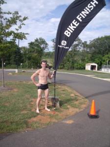 Virginia Triathlon Series Warrenton Sprint Triathlon Masters prize winner Doug Landau