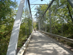 """A lovely little bridge off of a dirt road in Loudoun County - perfect for hybrid, mopuntain and """"fat tire"""" bikes !"""
