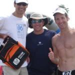 USAT CEO Rob Urbach, Set Up Events' Race Director Greg Hawkins and Doug Landau are VTS prize winners