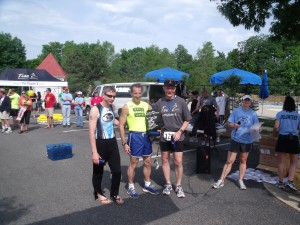 Virginia Run Sprint Triathlon 2011 age group award winners in Centreville