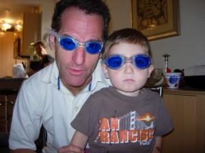 Doug Landau and his nephew are getting ready for the Jack Corkey Memorial Aquathon at the Herndon Virginia Community Center