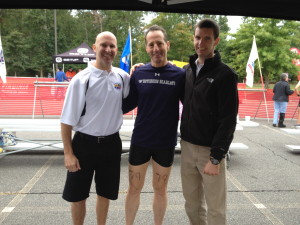 Doug Landau after getting getting treatment in the Richmond Sprint Triathlon Medical Tent