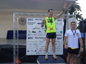 At the ALS runs for Lou Gehrig's Disease in Coconut Grove, Florida, Herndon injury lawyer Doug Landau won his age group in the 5km race