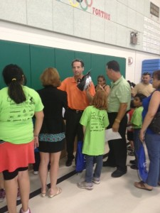 Attorney Doug Landau at Guilford Elementary School Bike Rodeo