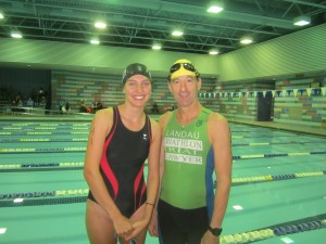 "Another triathlon ""newbie,"" Katie Baroody of Herndon, had a great swim, kicking right past lawyer Landau despite his 30 second head start like he was an inflated blowfish !  A Herndon High School graduate, Ms. Baroody finished 8th overall, won her age group & clobbered Landau again with her T-2 time !"