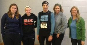 """After today's """"Frozen 5km"""" at the GMU Prince William County campus, Manassas area injury & disability lawyer Doug Landau thanked the volunteers and Bristow Swim and Tri team at the Freedom Fitness & Aquatic Center for their ebullient efforts during the cold, drizzly and icy event."""